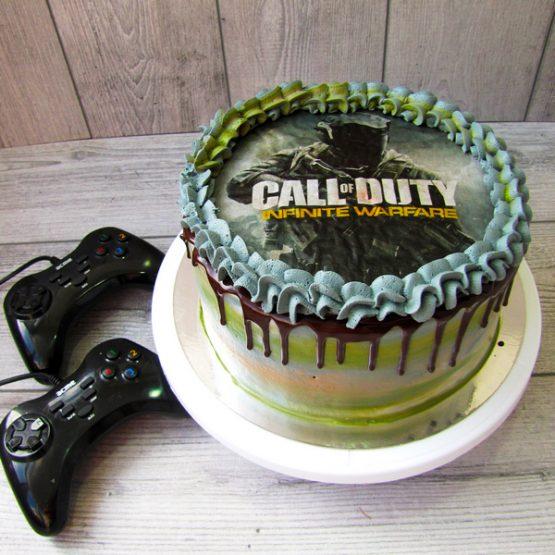 торт с печатью