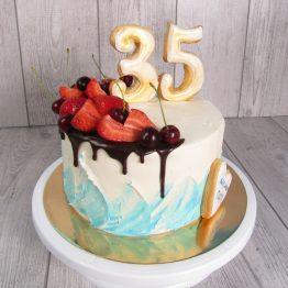 Торт з пряником-топпером Цифра