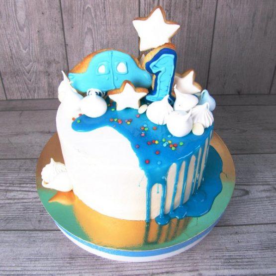 Торт з пряником-топпером