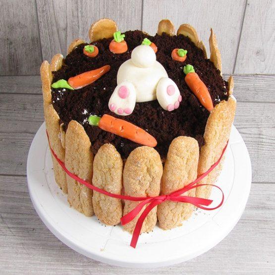 торт зайка на грядці