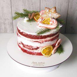 торт голий червоний