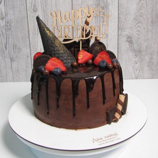 """Торт 2 кг. Для хлопця """"Happy Birthday"""""""