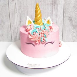 Торт Єдиноріг 2 кг. Рожевий