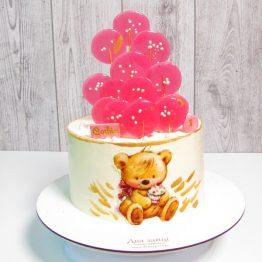 Торт з ведмедиком та льодяниками. 2,5 кг