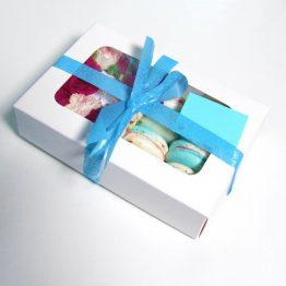Подарунковий набір Макаронс+Квіти Blue