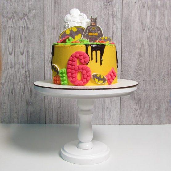 """Тематичний торт 2 кг """"Lego-Batman"""" з їстівним друком"""