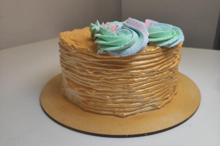 как сделать золотой торт