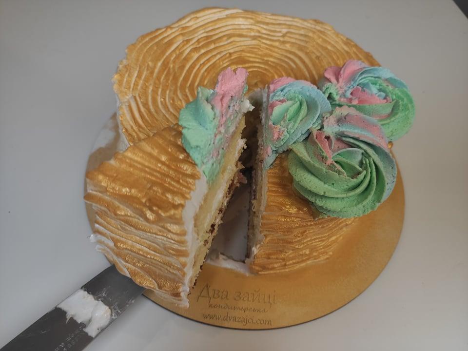 як зробити золотий торт