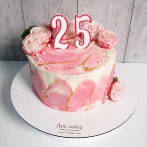 торт для дівчини з квітами