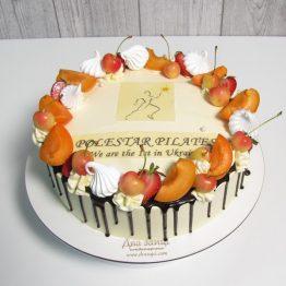 Корпоративний торт 2,5 кг з їстівним друком