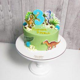 Торт з динозаврами