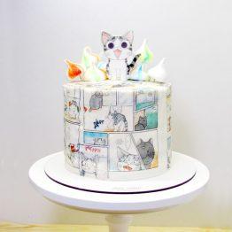 торт кот Chi